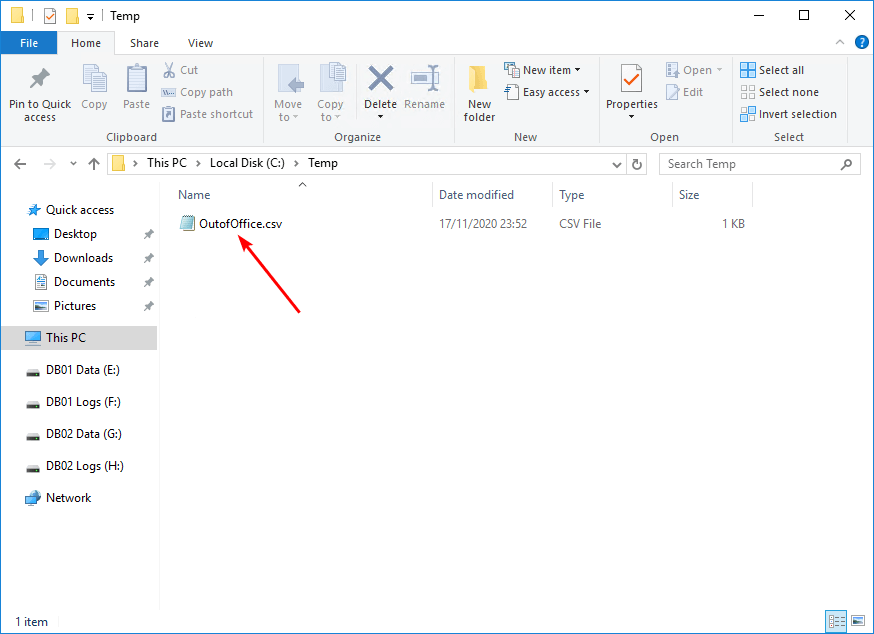 Get users that have Out of Office enabled in Exchange Excel export