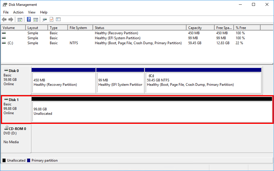 Configure ReFS volume Exchange 2013 2016 2019 disk online