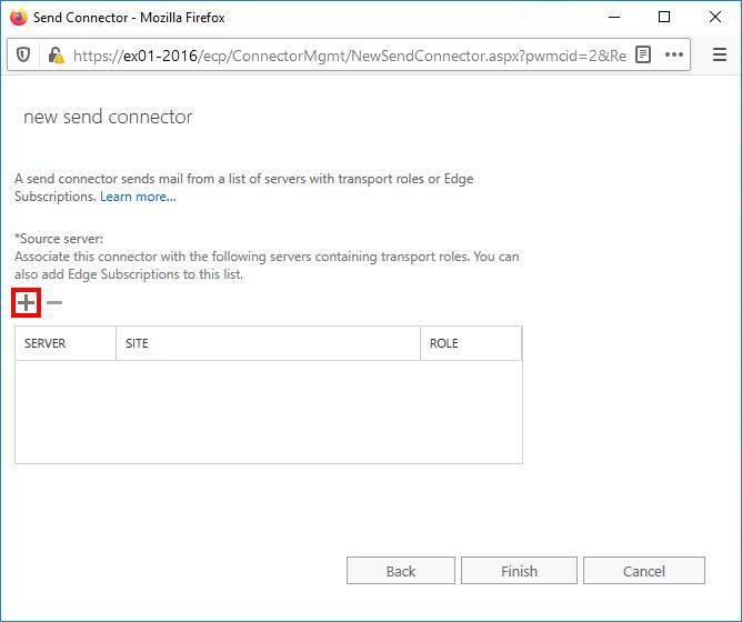 Exchange add source server