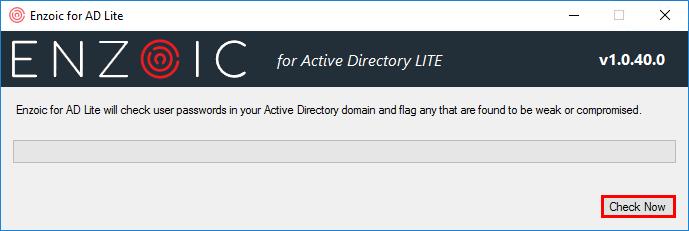 Active Directory weak password checker check now