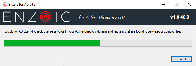 Active Directory weak password checker searching
