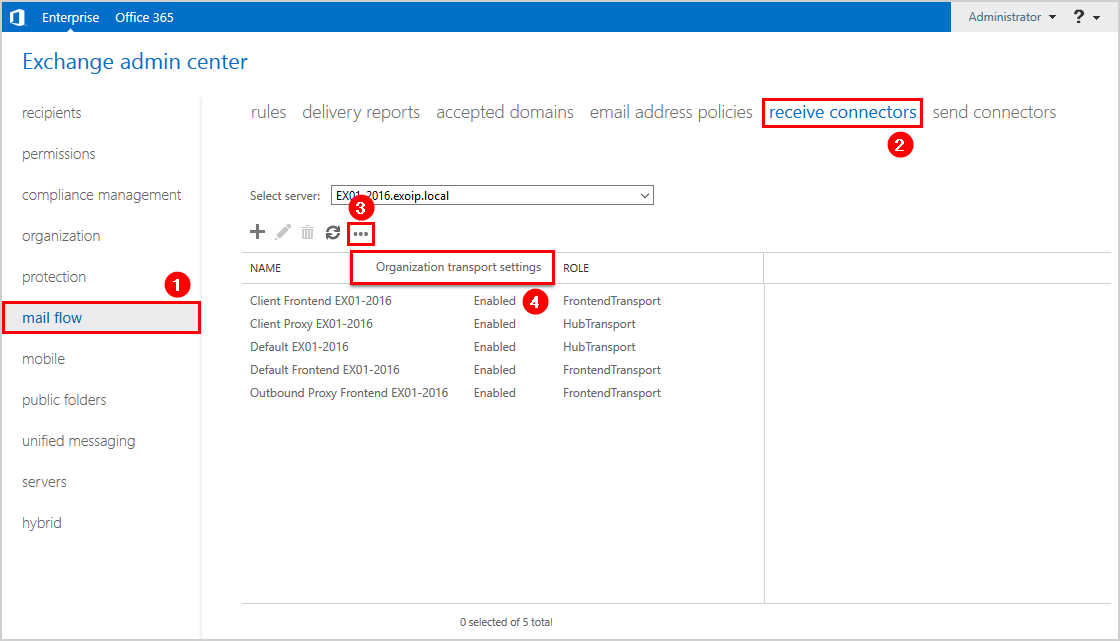 Attachment size limit Exchange 2016 receive connectors