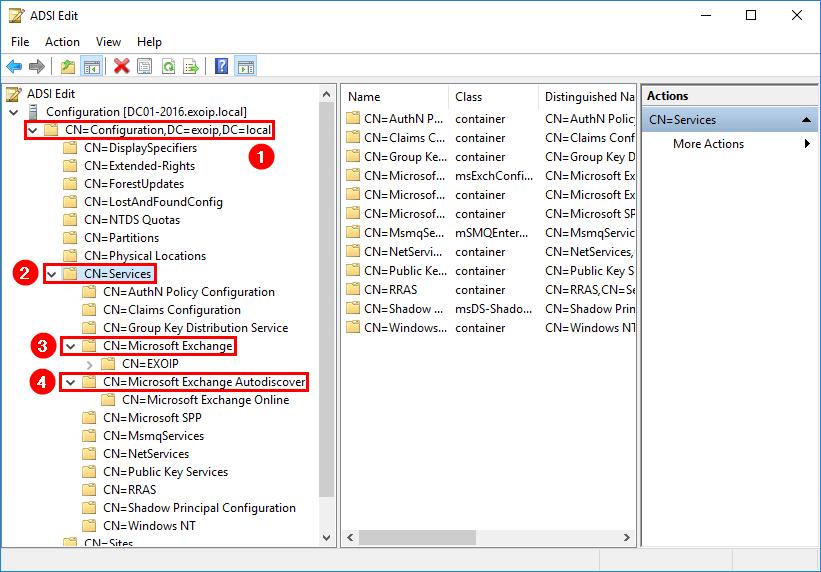 Remove Exchange Server from Active Directory ADSI Edit remove Exchange