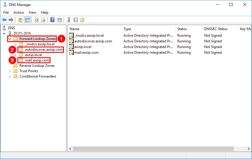 Remove Exchange Server from Active Directory remove DNS forward lookup zones