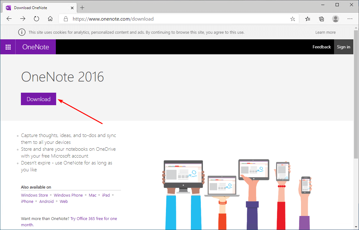 OneNote is missing from Office 365 and Office 2019 download OneNote 2016