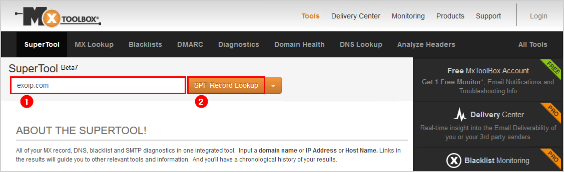 Setup SPF record for Exchange Server fill in domain