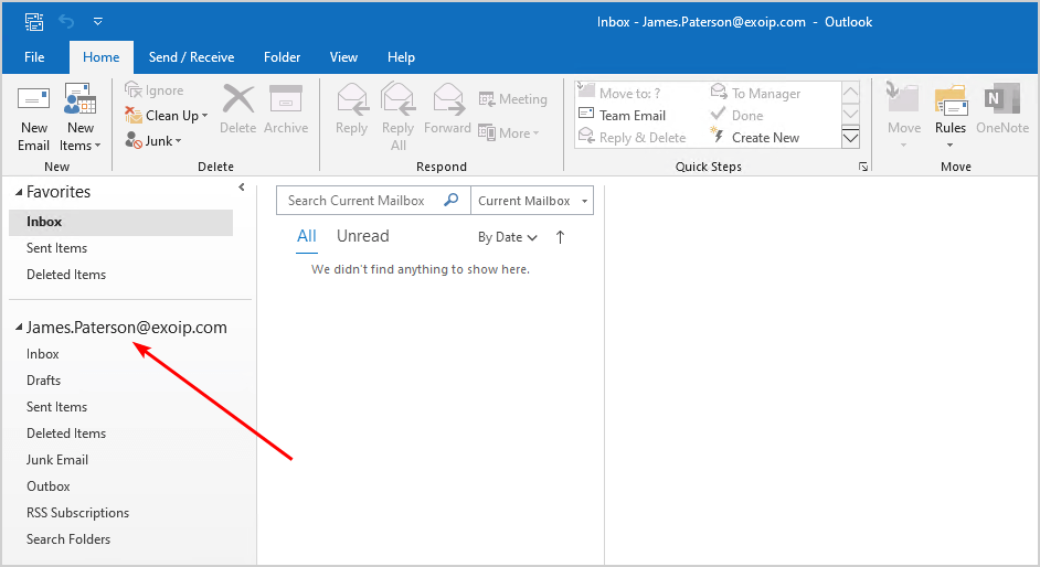 Test inbound mail flow in Exchange Server 2016 Outlook