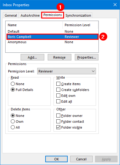 Export mailbox folder permissions to CSV file inbox folder permissions reviewer