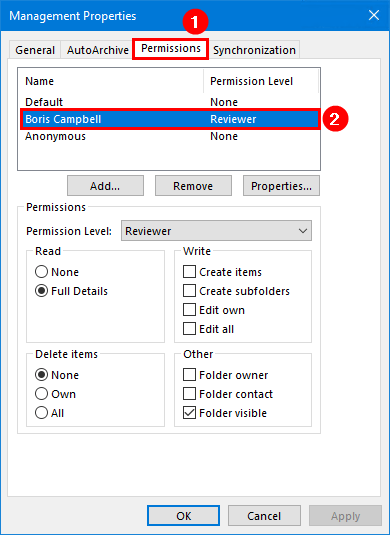 Export mailbox folder permissions to CSV file management folder permissions inherited