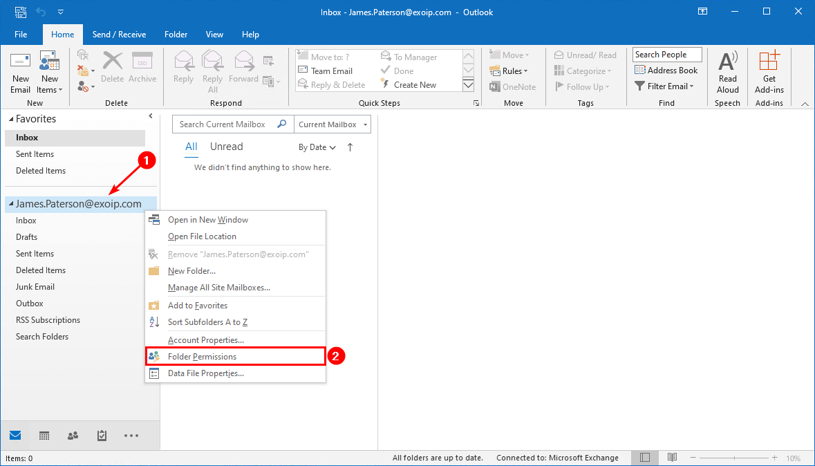 Export mailbox folder permissions to CSV file top folder permissions