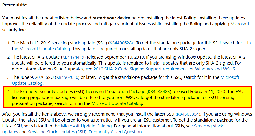 SIGRed patch fails in Windows Server 2008 R2 prerequisite