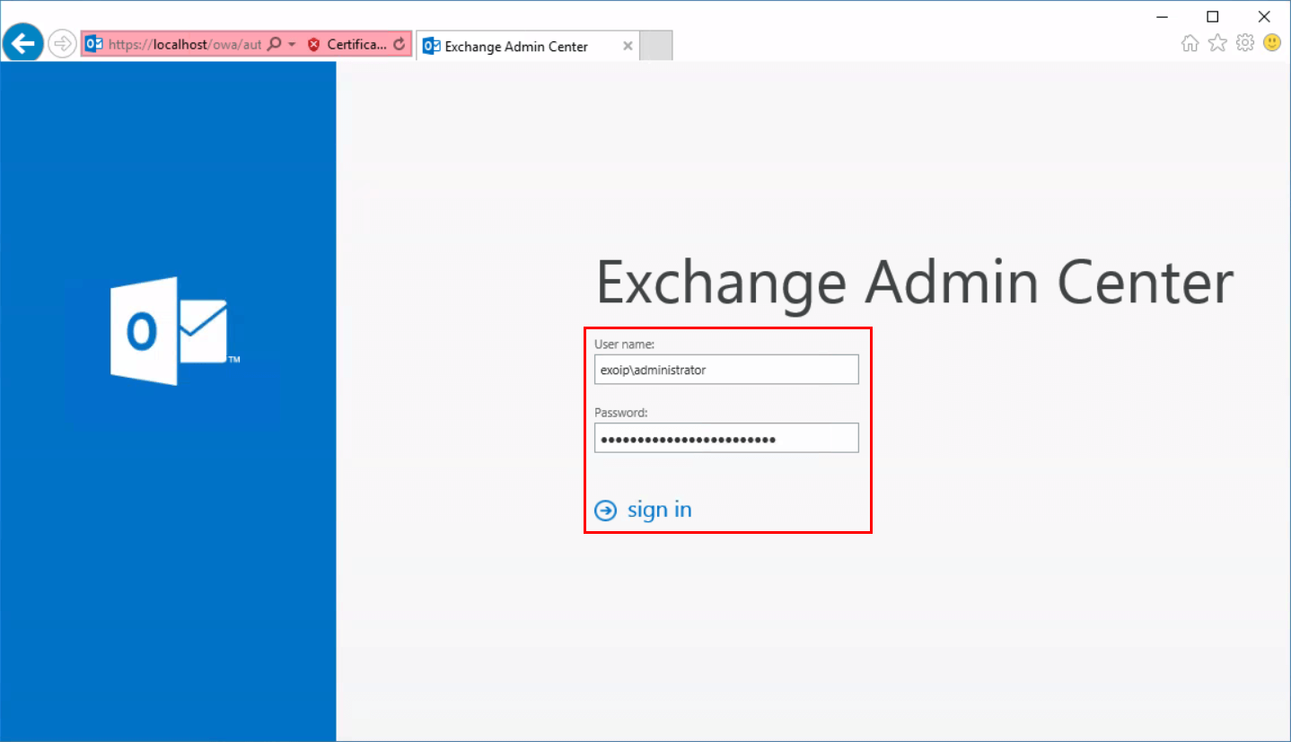 Exchange 2016 ECP redirects to Exchange 2010 ECP log in credentials