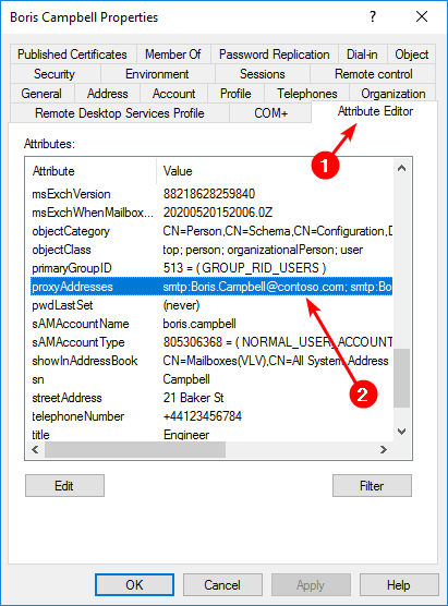 Find email addresses with PowerShell Attribute Editor