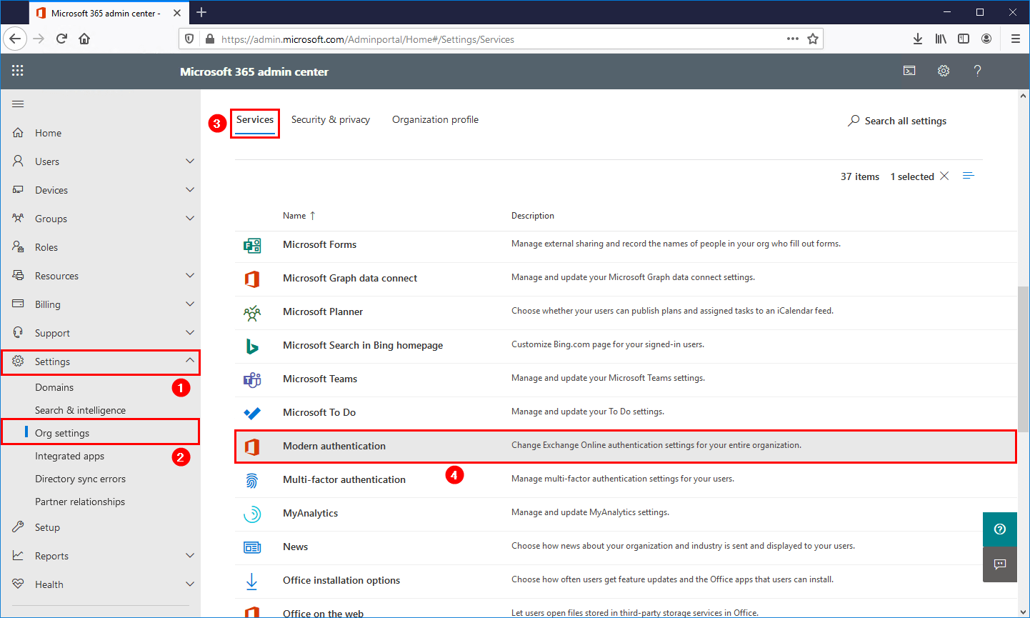 Outlook prompts for password after migration to Office 365 modern authentication