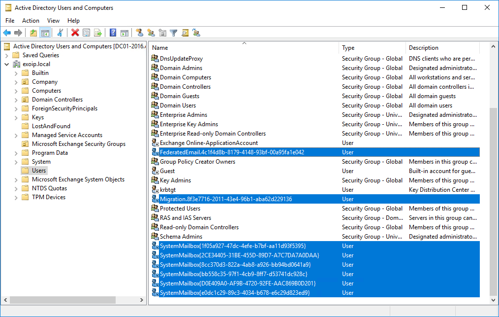 Recreate arbitration mailboxes in Exchange Server select AD objects