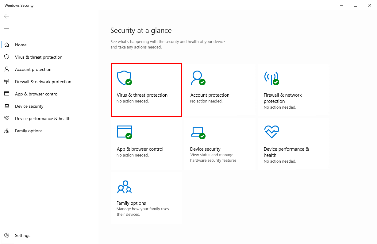 Turn off Windows Defender in Windows 10 Windows Security active
