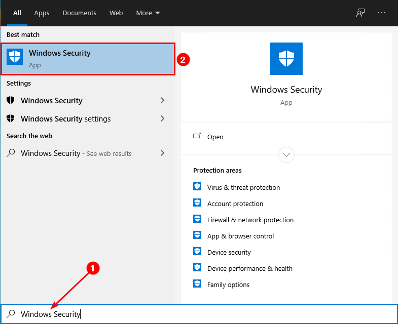 Turn off Windows Defender in Windows 10 Windows Security