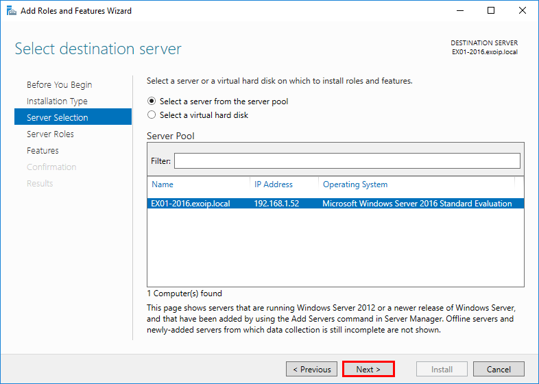 Install .NET Framework 3.5 on Windows Server Server Manager 3