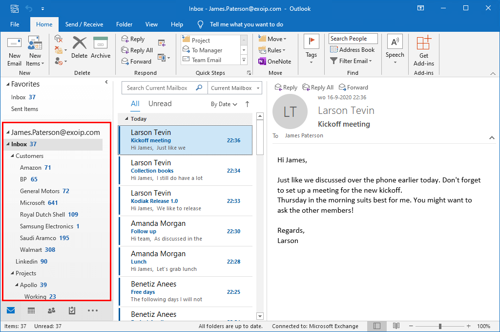 Mark all messages as read in Outlook before
