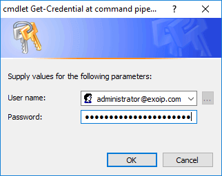 Load Exchange Management Shell in PowerShell ISE Get-Credential