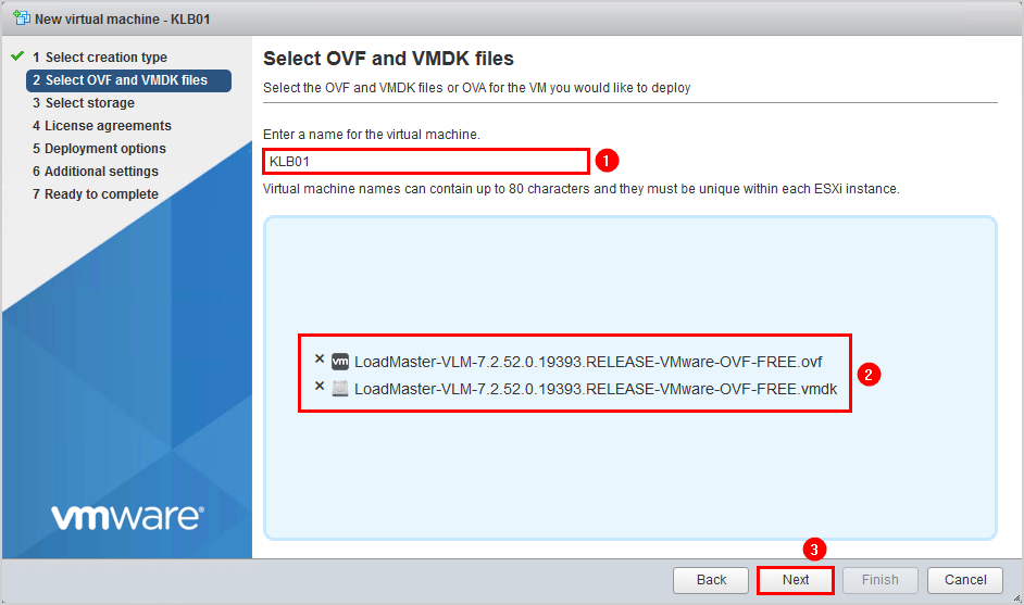 Install Kemp virtual load balancer on VMware 4