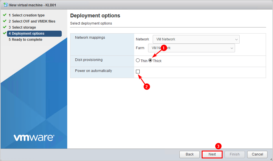 Install Kemp virtual load balancer on VMware 6