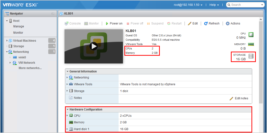 Install Kemp virtual load balancer on VMware 8