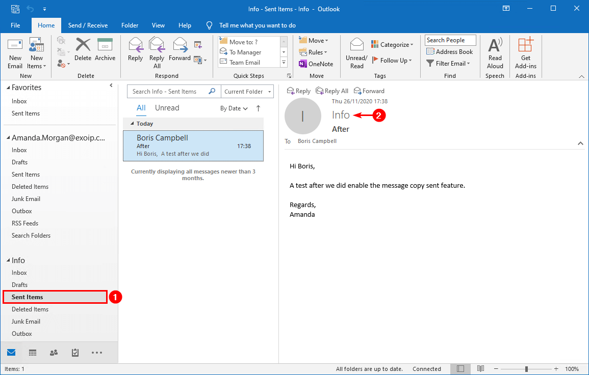 Save sent items in shared mailbox with PowerShell sent items shared mailbox after
