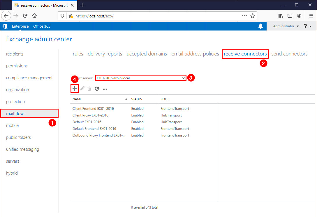 Configure anonymous SMTP relay in Exchange Server add receive connector
