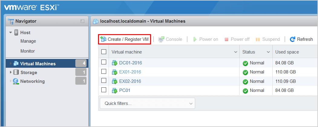 Convert thick provisioned disk to thin on VMware ESXi create/register VM