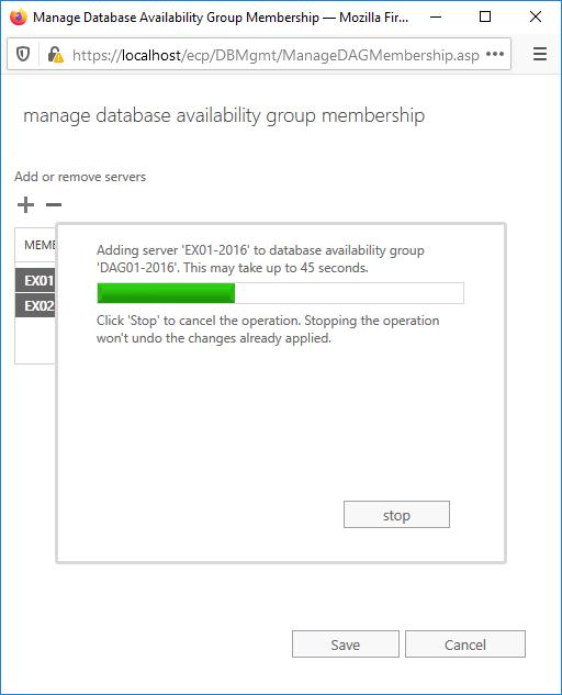Adding server to database availability group