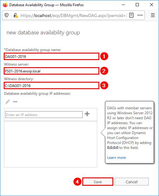 Configure new database availability group