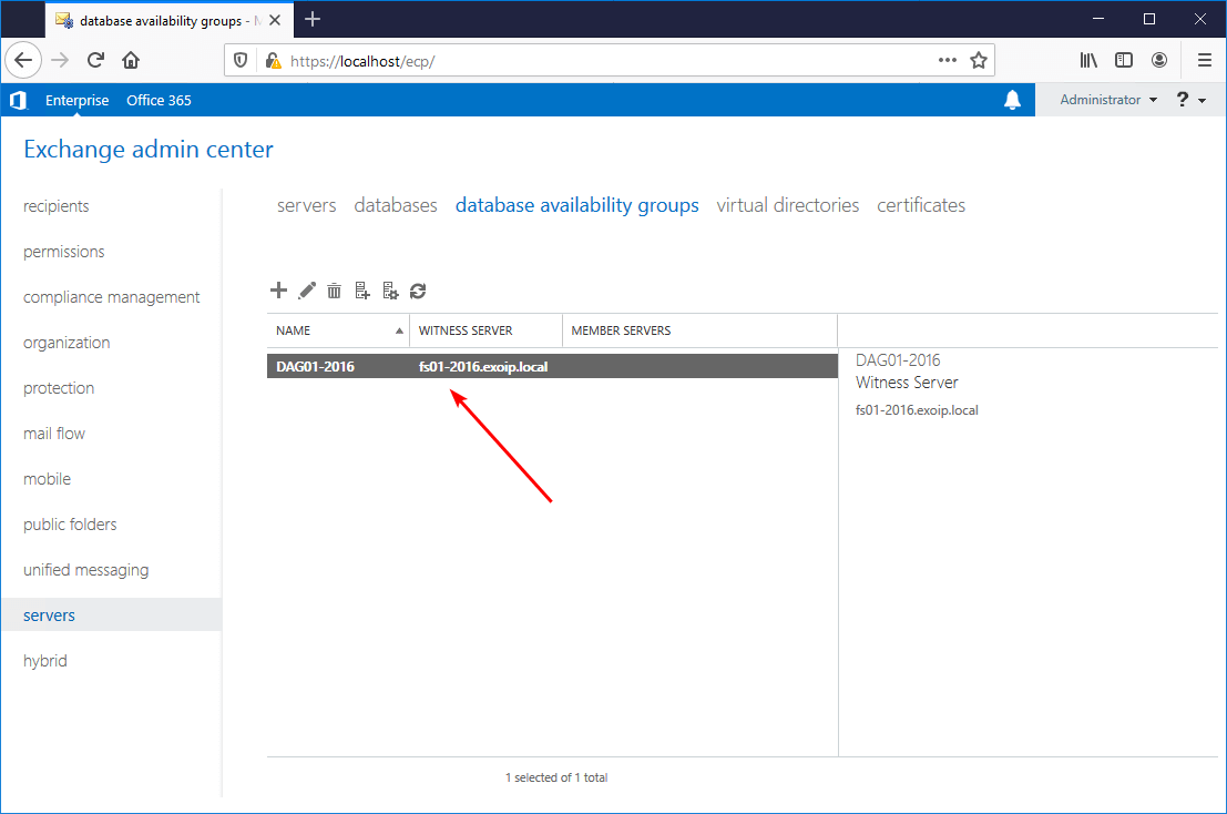 DAG available in list view after creation