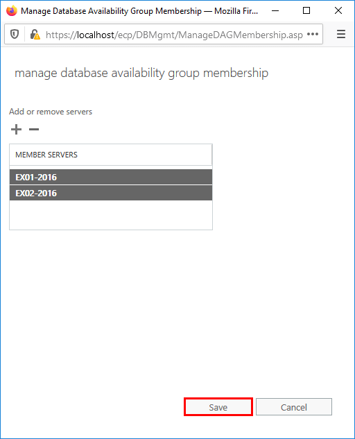 Save the Exchange Servers