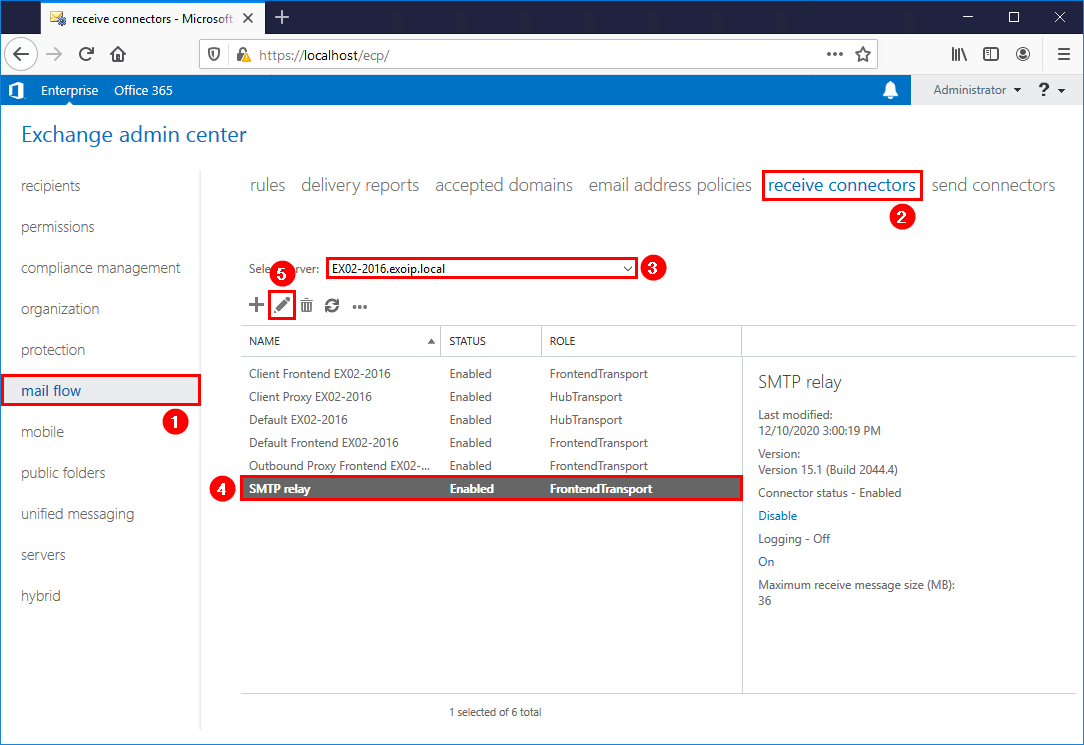 Import remote IP addresses to Exchange receive connector list view