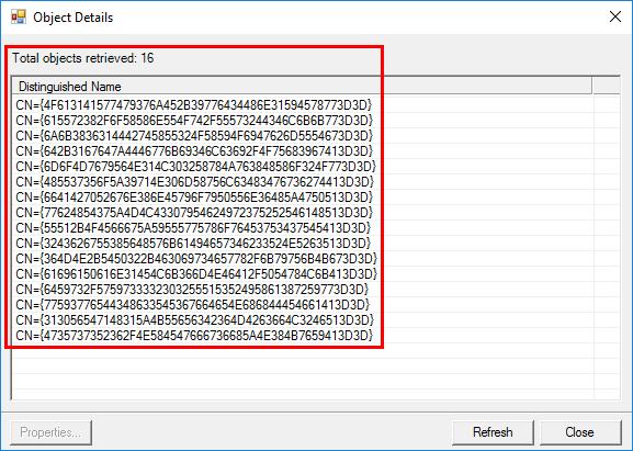 Synchronization Service Object Details