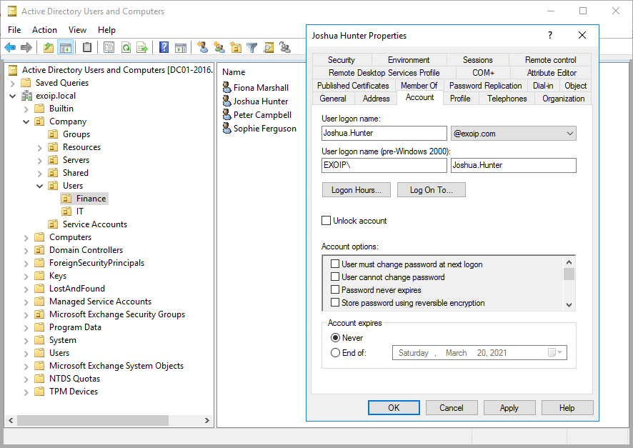 Bulk create Office 365 mailboxes in Exchange hybrid configuration AD user properties