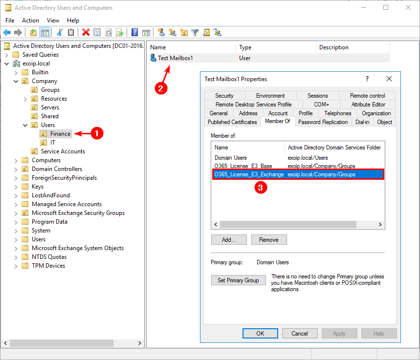 Add Office 365 license in AD