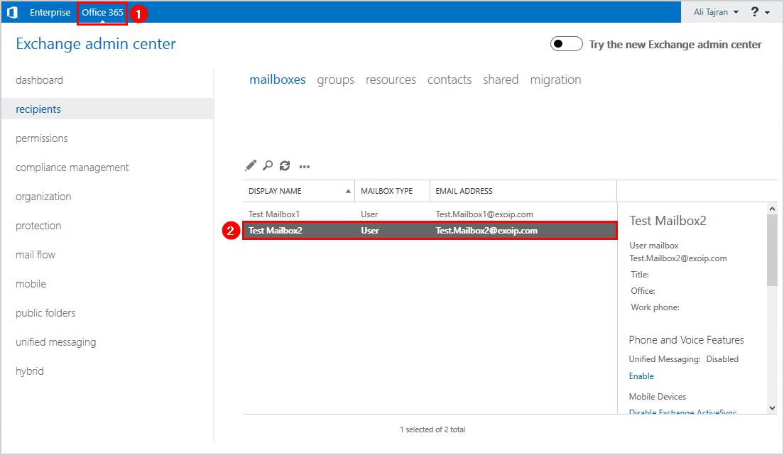 Verify Office 365 mailbox