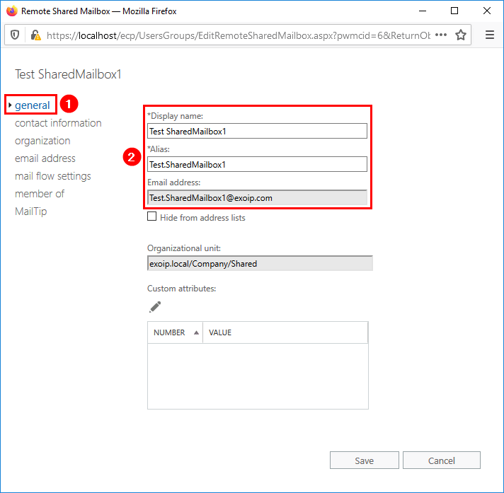 Create Office 365 shared mailbox in Exchange hybrid general