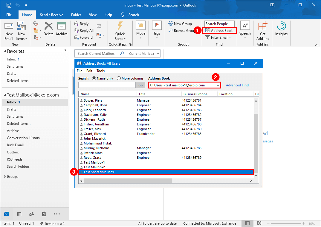 Exchange hybrid Office 365 GAL visibility
