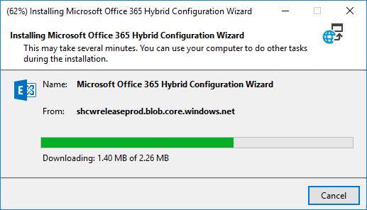 Installing Microsoft 365 Hybrid Configuration Wizard