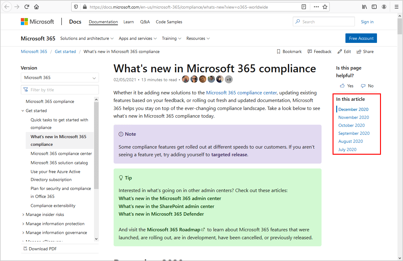 Microsoft 365 compliance what's new