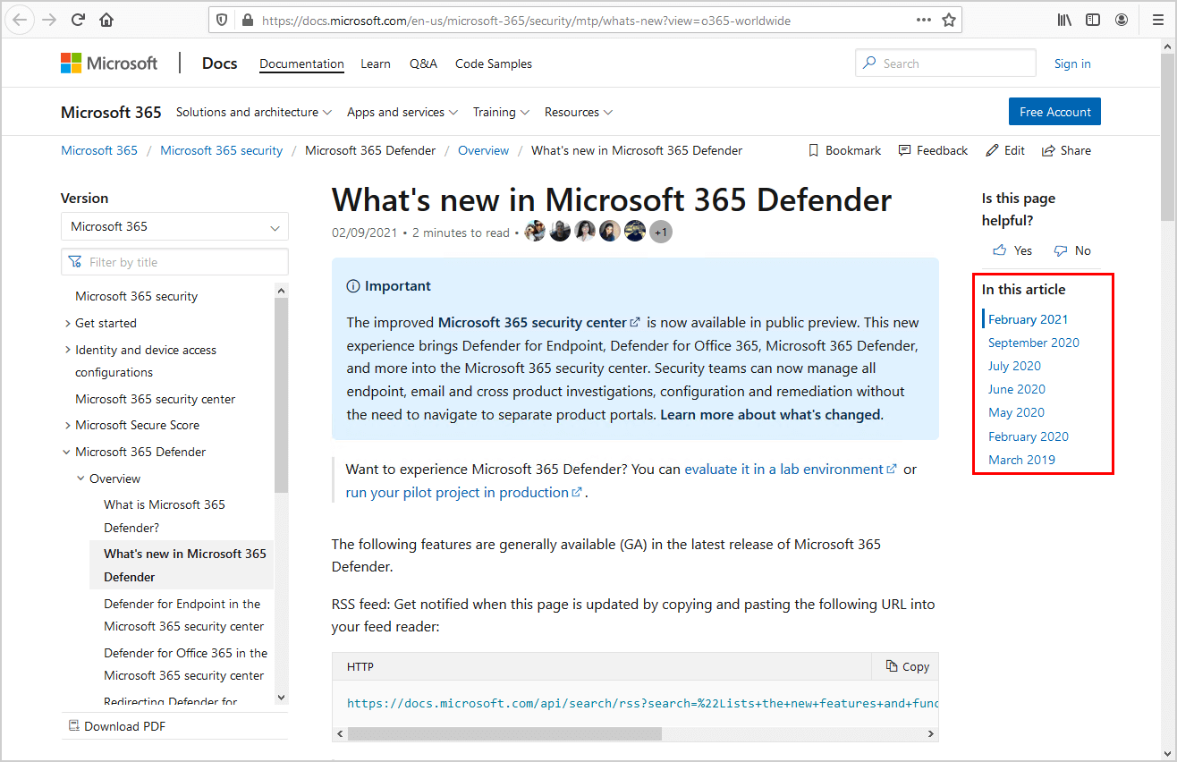 Microsoft 365 defender what's new