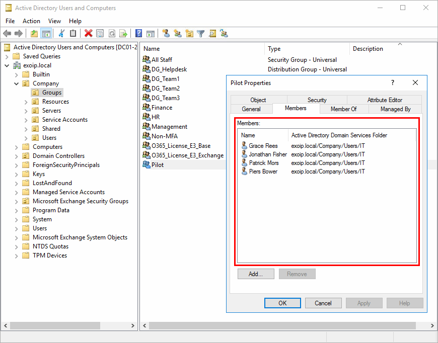 Remove users from group with PowerShell after