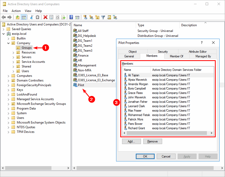 Remove users from group with PowerShell before