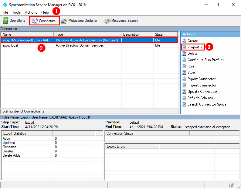 Conditional Access MFA breaks Azure AD Connect synchronization Connectors