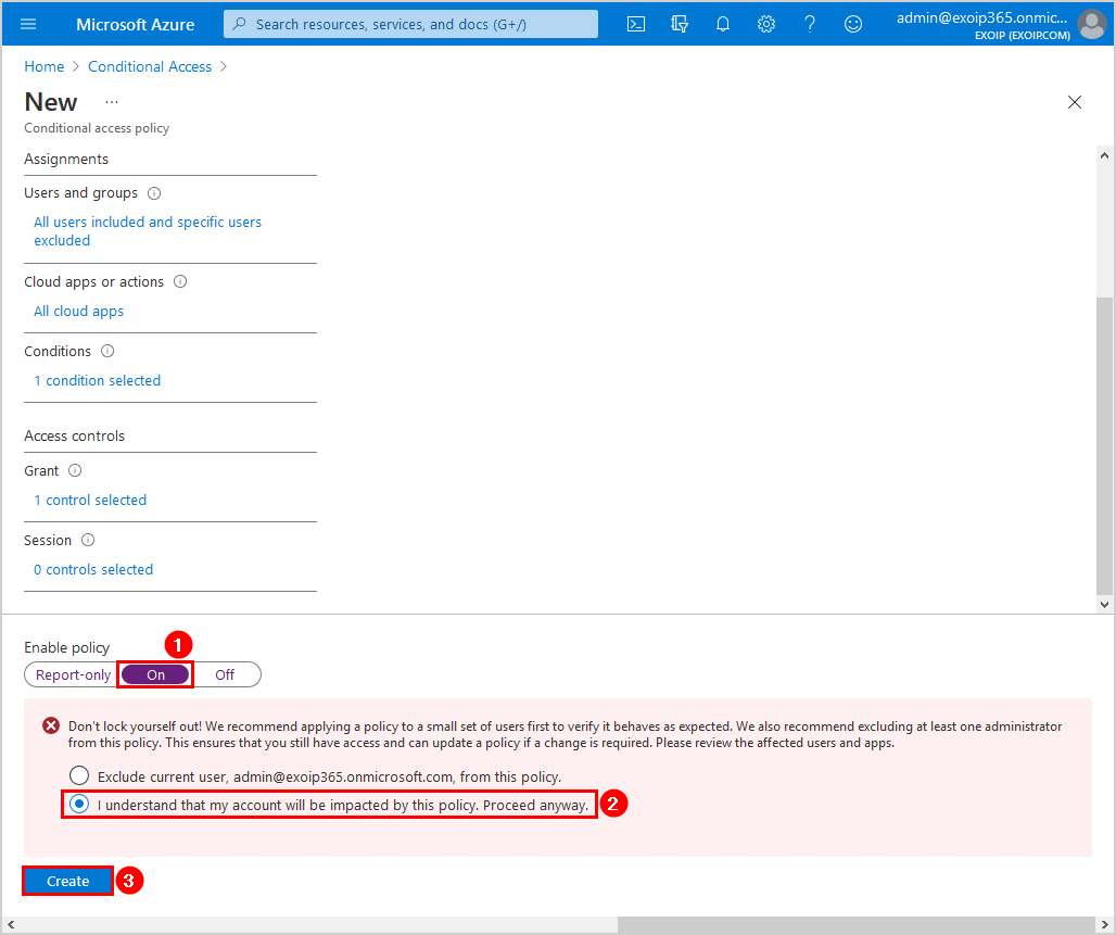 Configure Azure AD Multi-Factor Authentication Enable Azure MFA Conditional Access policy