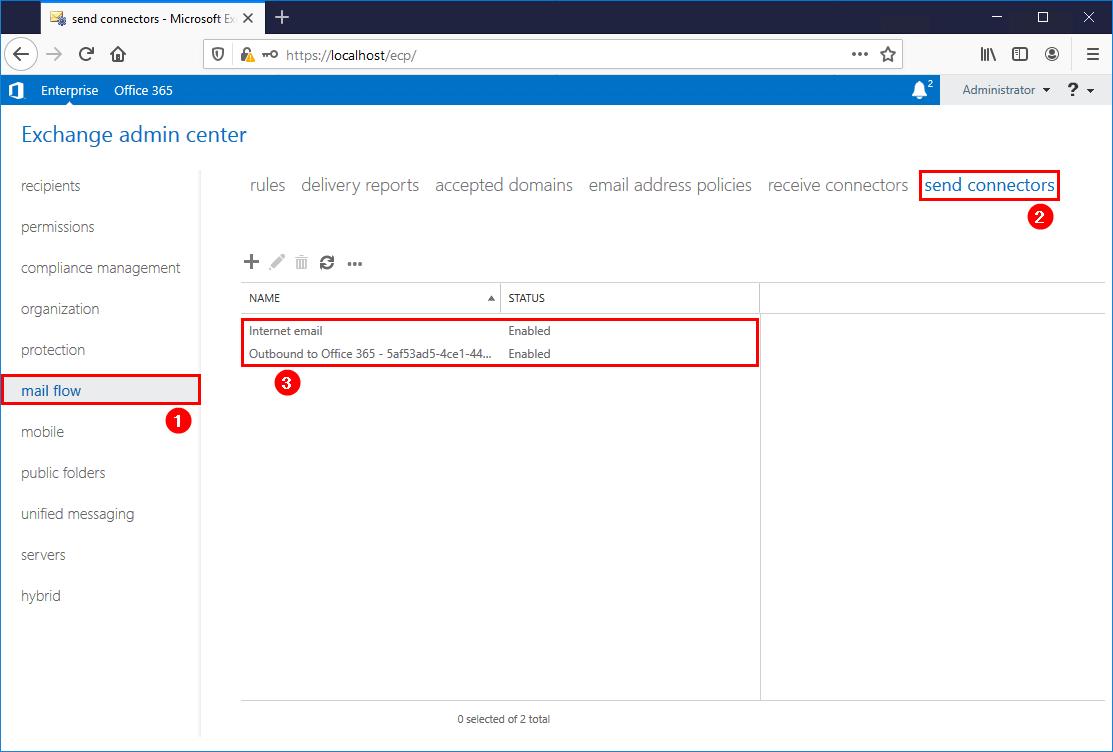 Exchange send connector logging ecp