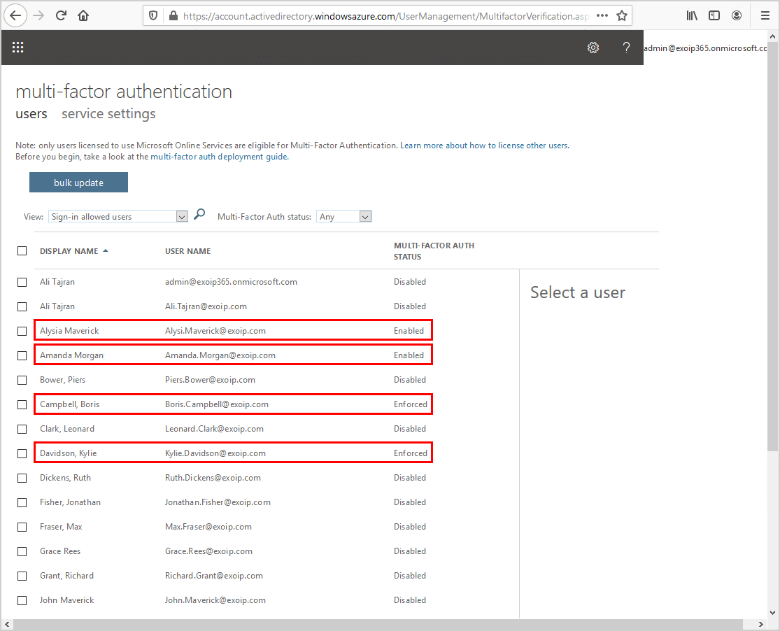 Export Office 365 users MFA status with PowerShell multi factor authentication